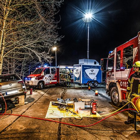 Photo shooting with VIMTEC and the fire department Großschönau/Waltersdorf