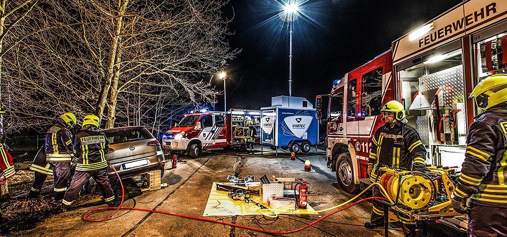Fotoshooting mit VIMTEC und der Feuerwehr Großschönau/Waltersdorf